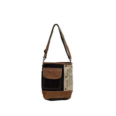 Myra Bags ピースポケット アップサイクルキャンバス&デニム ショルダーバッグ S-0895【並行輸入品】