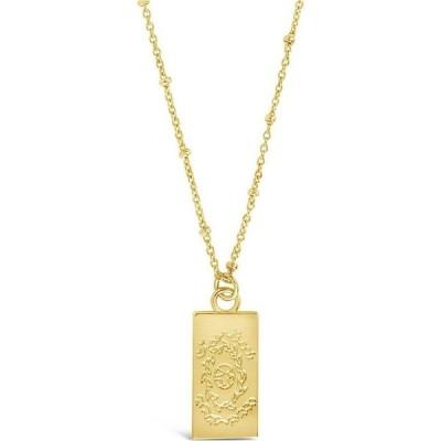 スターリング フォーエバー SHINE by Sterling Forever レディース ネックレス ジュエリー・アクセサリー The World Tarot Card Pendant Necklace gold