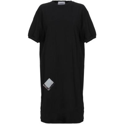 ART 259 DESIGN by ALBERTO AFFINITO ミニワンピース&ドレス ブラック S コットン 100% ミニワンピース&ドレス