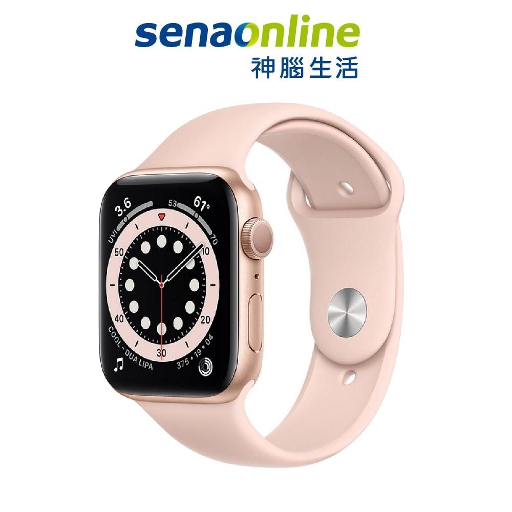 Apple Watch S6 GPS 44mm 金色鋁金屬-粉沙色運動型錶帶 血氧 血氧濃度感測器 神腦生活