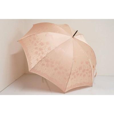 AUROLA オーロラ 傘 USED美品 ピンク 花柄 蝶 寒竹手元 グラス骨 60cm  S A4907