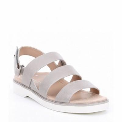 バイオニック Vionic レディース サンダル・ミュール シューズ・靴 keomi leather block heel sandals Light Grey