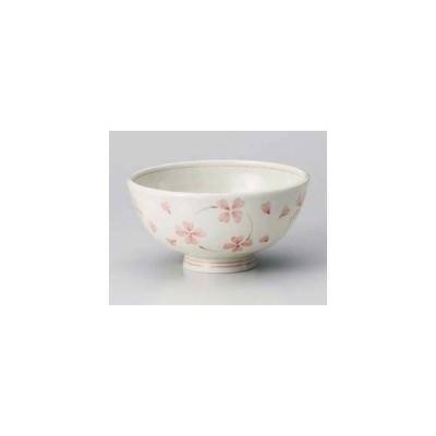 和食器 ホ362-337 クローバーピンク茶碗(軽量)