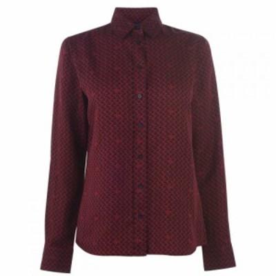 ガント Gant レディース ブラウス・シャツ トップス Sig Weave Shirt Port Red