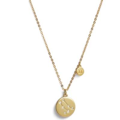 ノードストローム NORDSTROM メンズ ネックレス ジュエリー・アクセサリー Zodiac Disc Pendant Necklace Gemini Gold