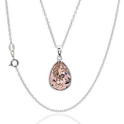 ファインネックレス ペンダント アンブランディッド Sterling Silver Pear Crystal 18-inch Necklace Silver
