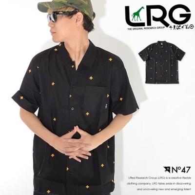LRG エルアールジー 半袖シャツ 総柄 ミニツリープリント 左胸ポケット (F192001) セール
