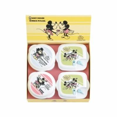 ディズニー ヴィンテージコミック ミッキー & ミニー 電子レンジ容器4点セット MM-105