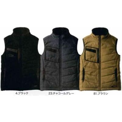 5106 防寒ベスト G.GROUND 桑和 SOWA ジーグラウンド 防寒着 メンズ 防寒服 作業服  M~6L 表:綿100