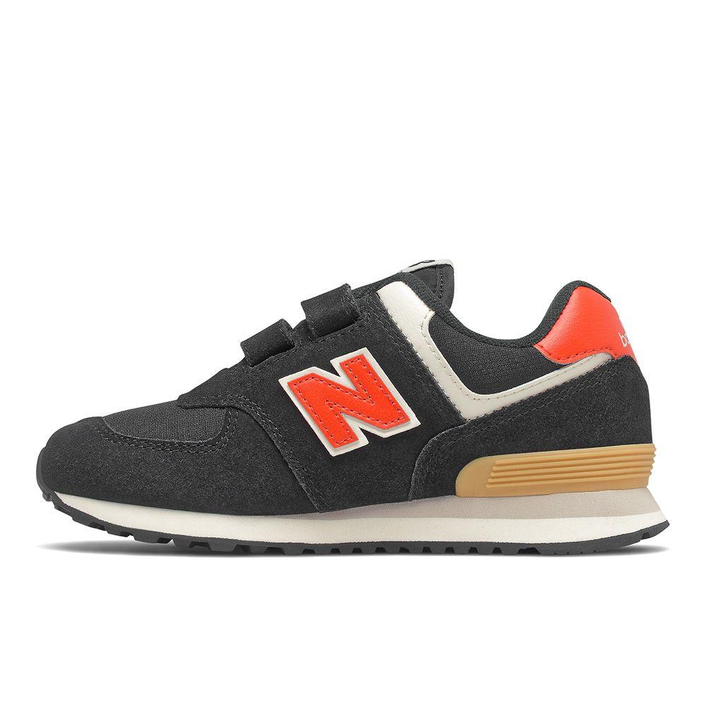 【全館滿額88折】New Balance 574 W 童鞋 中童 慢跑 復古 麂皮 穩定 黑 紅【運動世界】PV574ML2
