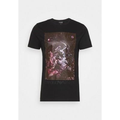 エンポリオ アルマーニ Tシャツ メンズ トップス Print T-shirt - nero