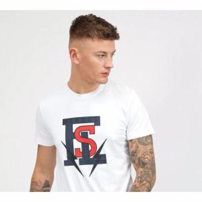 ディーゼル Diesel メンズ Tシャツ トップス collegiate logo t-shirt White
