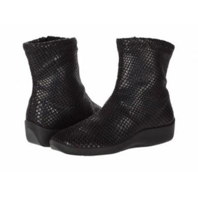 Arcopedico アルコペディコ レディース 女性用 シューズ 靴 ブーツ アンクル ショートブーツ Lux Black Shine【送料無料】