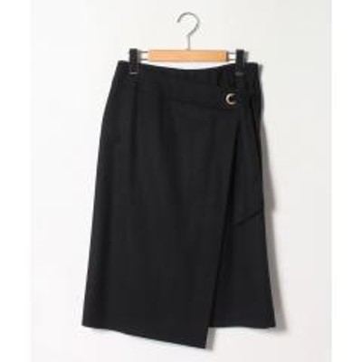 Leilian(レリアン)【特別提供品】ラップ風デザインスカート