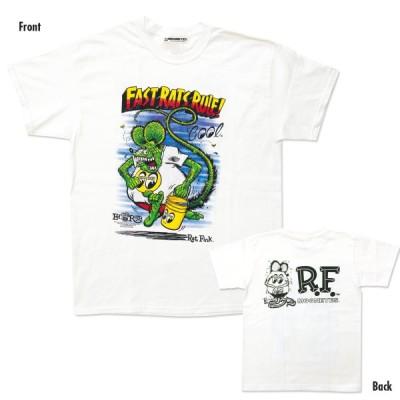 XXLサイズ Rat Fink x MOON Fast Rat Rule (ラット フィンク x ファスト ラット ルール) Tシャツ