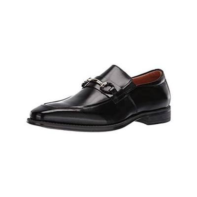 STACY ADAMS Men's Pierce Moe-Toe Slip-on Penny Loafer, Black, 9 M US