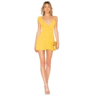 エルピーエー LPA レディース ワンピース ラップドレス ワンピース・ドレス Asymmetrical Ruffle Wrap Dress Golden Yellow