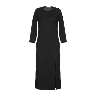 ジャッカ JUCCA 7分丈ワンピース・ドレス ブラック L バージンウール 100% 7分丈ワンピース・ドレス