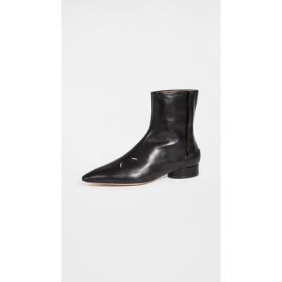 メゾン マルジェラ Maison Margiela レディース ブーツ ショートブーツ シューズ・靴 Four Stitch Soft Touch Ankle Boots Black