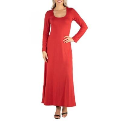 24セブンコンフォート レディース ワンピース トップス Women's Long Sleeve T-Shirt Maxi Dress