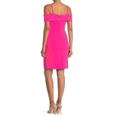 ベベ レディース ワンピース トップス Cold Shoulder Mini Dress FUCHSIA