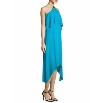 トリーナ ターク レディース ワンピース Botanical Silk Chiffon Halter Dress