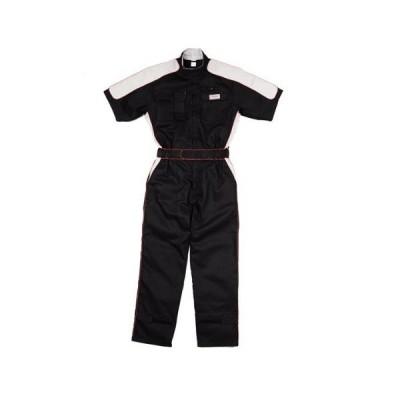 kurehifuku(クレヒフク)ピットスーツ カジュアル半袖つなぎ kr-kr703 ブラック LL