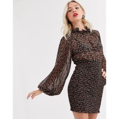 シーメロコレクティブ レディース ワンピース トップス C/Meo Collective longevity mini dress with volume sleeve