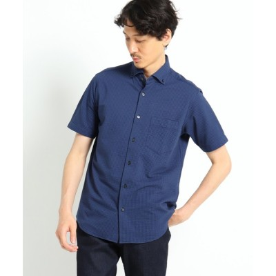 TAKEO KIKUCHI / COOLMAX サッカーストライプカットソー半袖シャツ MEN トップス > シャツ/ブラウス