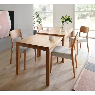 伸長式テーブル 幅130〜215cm Vilske/ヴィルスク 伸長式ダイニングシリーズ ナチュラル