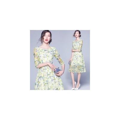 パーティードレス ミモレ丈 結婚式ドレス ワンピース ウエディング ドレス 二次会 ブライズメイド ロングドレス 20代 30代 40代 フォーマルドレス
