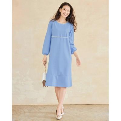 大きいサイズ ビジュー使いカットソーひざ丈ワンピース(OtonaSMILE) ,スマイルランド, ワンピース, plus size dress