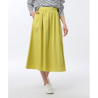 UNTITLED(アンタイトル) 【洗える・UVカット】エステネージュブロードギャザースカート