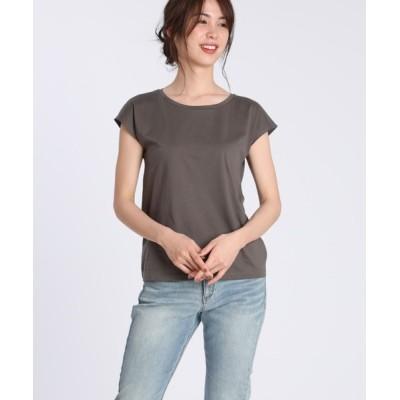 SUPERIOR CLOSET / フレンチスリーブカットソー《スビン綿Mix天竺》 WOMEN トップス > Tシャツ/カットソー