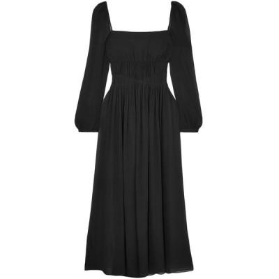 ステラ マッカートニー STELLA McCARTNEY レディース ワンピース マキシ丈 ワンピース・ドレス open-back gathered silk-georgette maxi dress Black