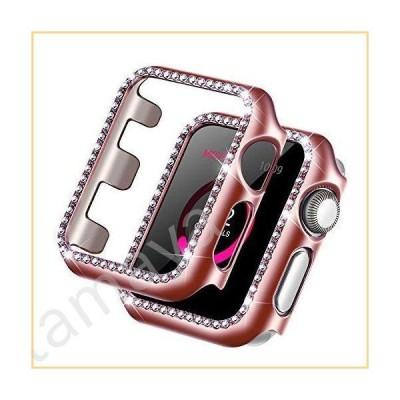 Forbear Apple Watchケース iWatchカバー キラキラしたクリスタルダイヤモンド 光沢のあるラインストーンバン
