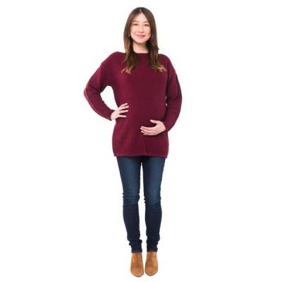 ノム NOM Maternity レディース ニット・セーター マタニティウェア トップス Odette Maternity + Nursing Sweater Merlot