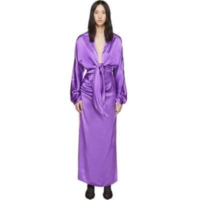 マテリエルティビリシ Materiel Tbilisi レディース ワンピース ワンピース・ドレス Purple Front Tie Dress Violet