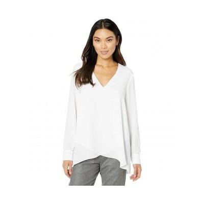 Karen Kane カレンケーン レディース 女性用 ファッション ブラウス Split Back Crossover Top - Off-White