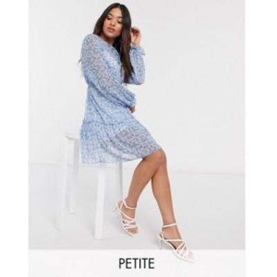 ミス セルフリッジ Miss Selfridge Petite レディース ワンピース ワンピース・ドレス smock dress in blue floral ブルー