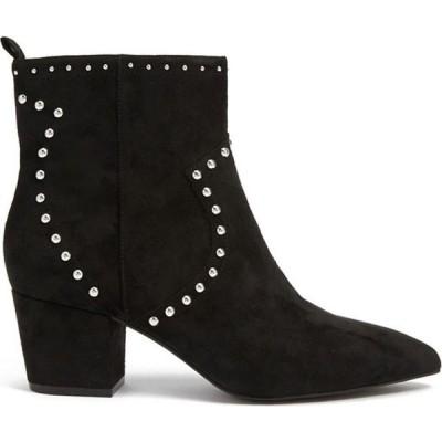 フォーエバー21 Forever 21 レディース ブーツ シューズ・靴 Studded Faux Suede Boots Black