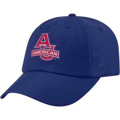 トップオブザワールド メンズ 帽子 アクセサリー Top of the World Men's American University Eagles Blue Staple Adjustable Hat