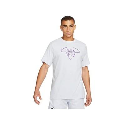 (取寄)ナイキ メンズ ラファ コート ティー バモス Nike Men's Rafa Court Tee Vamos Football Grey/Wild Berry