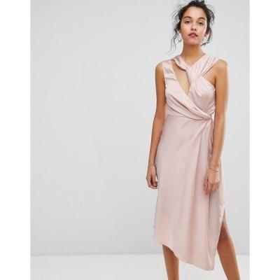キープセイク レディース ワンピース トップス Keepsake Asymmetric Midi Dress Blush