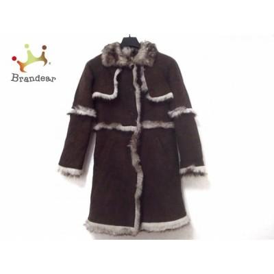 ティ ヤマイ パリ コート サイズ0 XS レディース 美品 ダークブラウン×アイボリー   スペシャル特価 20210118