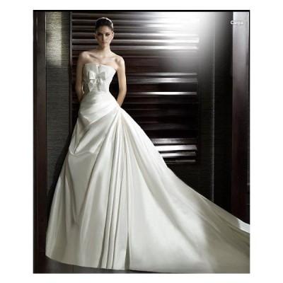 wdk430 人気のウェディングドレスを無料サイズオーダー! ホワイトブライダルドレス
