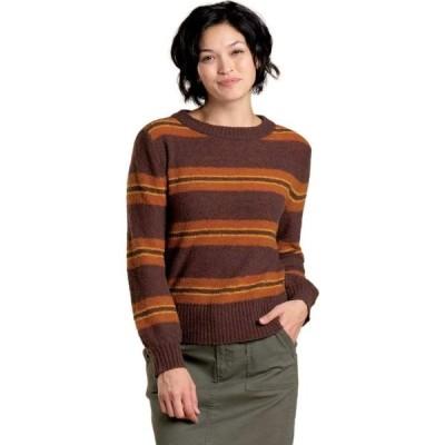 トードアンドコー Toad&Co レディース ニット・セーター トップス Cotati Crew Sweater Deep Mahogany Tri Stripe