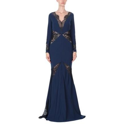 RHEA COSTA ロングワンピース&ドレス ダークブルー 46 レーヨン 75% / シルク 25% ロングワンピース&ドレス