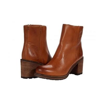 Frye フライ レディース 女性用 シューズ 靴 ブーツ アンクル ショートブーツ Karen Inside Zip Short - Cognac Vintage Veg Tan