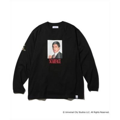 tシャツ Tシャツ MAGIC STICK/マジックスティック/TONY MONTANA L/S TEE フォトプリントロンT
